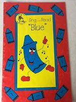 """Leap Frog Learning Books Sing and Read """"BLUE"""" Children Learning BIG Book 1990"""