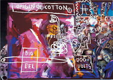 Andy Warhol and Basquiat Origin of Cotton Giclee Canvas Print Paintings Poster R