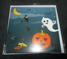 NEW HAPPY HALLOWEEN WITCH PUMPKIN GHOST BAT MOUSE POP-UP 3-D GREETING CARD