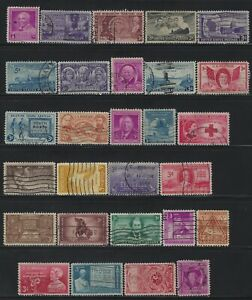 UNITED STATES - #953-#980 - 1948 COMMEMORATIVE YEAR SET USED STAMPS