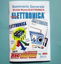 SOMMARIO Generale TOTALE Riviste Nuova Elettronica riv. da 1 a 250 volumi 1-23