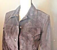Classiques Brown Suede Leather Jacket Blazer Entier Women's Size Small S