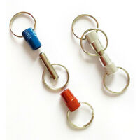 10 Pieces Heavy Duty Detachable Keychain Pull Apart Quick Release Key Rings