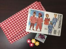 1991 Butterick Paper Pattern - UNCUT - With Fabric and buttons.