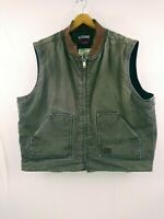 Mens Walls Blizzard Pruf Ultra Brown Cotton Heavy Canvas Insulated Work Vest  XL