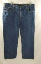 Carhartt FR Blue Denim Work Jeans 38 x 30