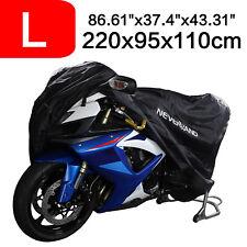 Motorcycle Motorbike Cover Black L Bike Outdoor Dustproof Heatproof UV Protector