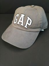 GAP BASEBALL CAP LOGO white and orange letters GRAY   ONE SIZE  Fits All New