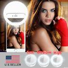 Selfie Light Ring LED - Flash Clip Camera - iPhone HTC Samsung - Tablet & Phone
