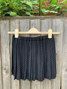 Bonpoint pleat polka dot skirt girls 12 years 75%lana