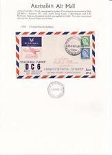 1954 Inaugural TEAL DC6 Christchurch--Sydney   Flight Cover