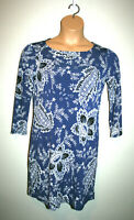 NEW Womens BCBG Maxazria Blue Noely Floral Print Stretch Dress Small S $158