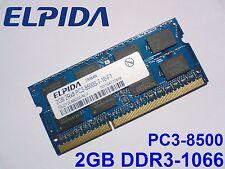 2GB DDR3-1066 PC3-8500 ELPIDA 204pin 1066 Mhz LAPTOP SODIMM RAM MEMORY SPEICHER