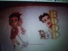 "LOVELY EMBROIDERED  TOWEL SET ""BETTY BOOP"" ALSO ELVIS,BOND,MADONNA,QUEEN,BOWIE"