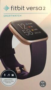 Fitbit Versa 2 Activity Tracker - Bordeaux/Copper Rose