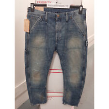 DENIM & SUPPLY RALPH LAUREN MENS DROP CARPENTER RIPPED JEANS BLUE SIZE 34X32