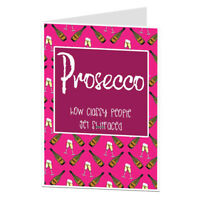 Prosecco Birthday Card For Her Women Wife BFF Female Friend 30th 40th 50th 60th