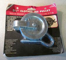 "Heavy Duty 3 1/2"" Clothesline Pulley Lehigh #70965 Nip"