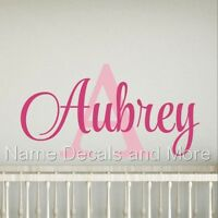 Decal Decor Girls Bedroom Personalized Name Initial Vinyl Nursery Wall