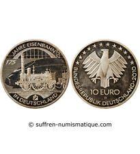 ALLEMAGNE, CHEMIN DE FER - 10 EURO ARGENT 2010 D MUNICH