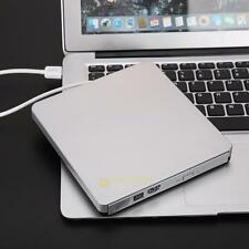 USB 3.0 Super Slim External CD DVD-RW DVD Writer Drive for PC Mac Laptop Silver