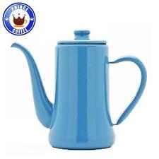 Tsukiusagi Usagi Jirushi Enamel Slim Pot Coffee Kettle (700ml) - Blue