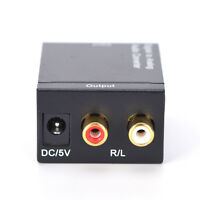 Optical Coaxial Toslink Digital to Analog Audio Converter Adapter RCA L/R Ho dr