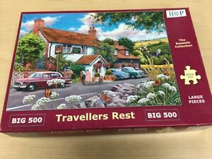 House of Puzzles (HOP) BIG 500 Piece Jigsaw Puzzle Travellers Rest 100% Complete