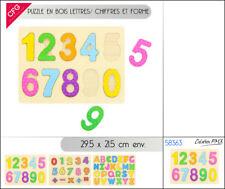 Puzzle en bois éducatif chiffre ou lettre addition alphabet soustraction enfant