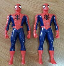 """Marvel Spiderman Walkie Talkies 2X 12"""" Action Figures D2 Toys Comic Heroes"""