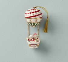 Lenox Christmas Hot Air Balloon Santa & Mrs Claus Ornament New 2020 890516