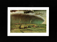 Art Masterpiece - Lithograph -  The Line Storm by JOHN STEUART CURRY