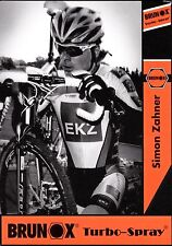 CYCLISME carte cycliste SIMON ZAHNER équipe  BRUNOX turbo-spray  cyclo cross