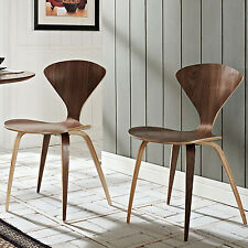 Stackable Dining Chair Set 2Pc Stacking Brown Office Cafe Restaurant Portable