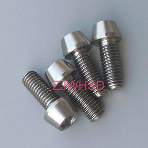 4pcs M6x16 Titanium Ti Screw Bolt Allen Hex Taper Socket Cap Head/AerospaceGrade