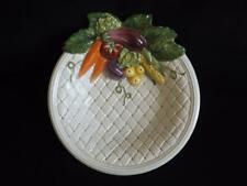 Mwt Fitz & Floyd Vegetable Basketweave Garden Bowl Serving Dish Mint Condition