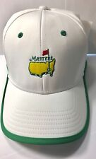 Masters Golf White Green Performance Structured Hat Cap from AUGUSTA NATIONAL