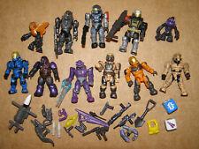 Mega Bloks HALO mini figure lot Spartan Master Chief Grunt Tartarus Brute Elite