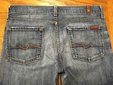"""7 FAM 7 FOR ALL MANKIND """"bootcut"""" USA JEANS SIZE 32 x 33 Tag 28 BEST Y38u"""