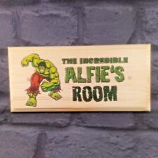 Personalised The Incredible Hulk Plaque / Sign - Kids Boys Superhero Bedroom
