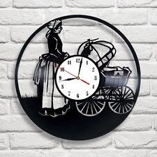 Tiempo de Georgia Baby Buggy Reloj De Discos De Vinilo Hogar Decoración Arte Dormitorio de Niños Tienda