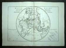 mapa DEL MUNDO GLOBO TERRESTRE HEMISFERIO ORIENTAL Mapa geográfica buena 1787