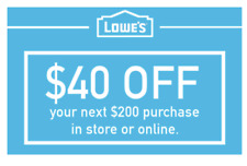 THREE Lowes $40 OFF $200 Lowe'sCoupons - IN STORE/ONLINE - FAST Delivery 3-Min!