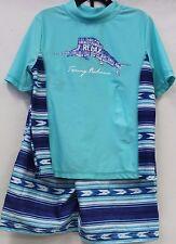 92b35e4e51 Tommy Bahama 5 Boy s Rash Guard Swim Trunks Short Set 2 PC Blue Swordfish