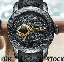 MEGALITH Mens Watches, Waterproof Luxury Big Face 3D Dragon Designer Watch..Nice