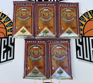 1991-92 Upper Deck Basketball Sealed 5 Pack Lot