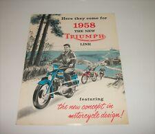 Vintage Original ~ 1958 Triumph motorcycle new model line sales brochure