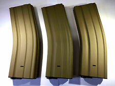 3 PCS BATTLEAXE M4/M16 450rds Metal Magazine set for Airsoft AEG Hi-Cap Mag(Tan)