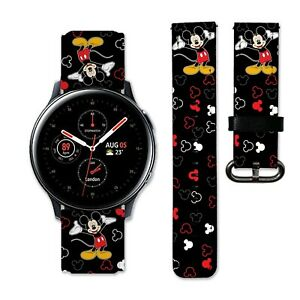 Disney Mickey Watch Band 20mm 22mm for Samsung Galaxy 3 Active Gear s3 straps 44