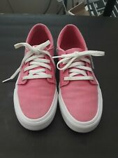 DC Trase TX  Youth Platform Pink & White Shoes size Girls Youth 3